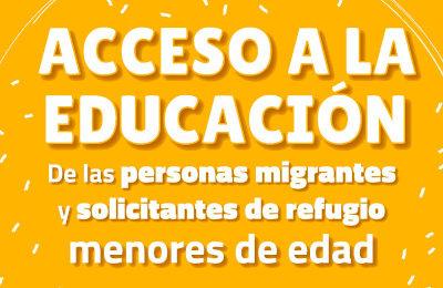 Acceso a la educación para personas migrantes y solicitantes de refugio menores de edad