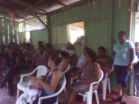 Asamblea en La Cruz